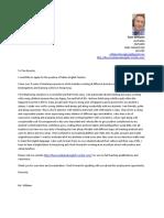 mr williams cover letter