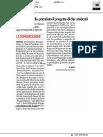 Gioco d'azzardo, premiato il progetto di due studenti - Il Corriere Adriatico del 12 luglio 2019