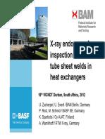 Xray inspection of tube welds