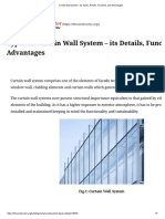 Curtain Wall System - Its Types, Details, Functions and Advantages