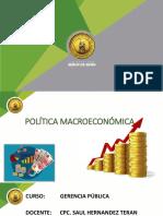 POLITICAS MACROEONOMICAS