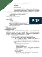 Political Law Bar Syllabus Based Notes