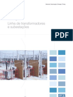 WEG Catalogo de Transform Adores Servicos e Subestacoes 710 Catalogo Portugues Br