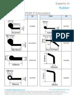 EPDM P Extrusions