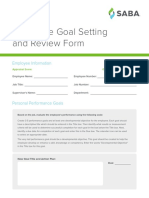 Employee Goal Setting and Review Form