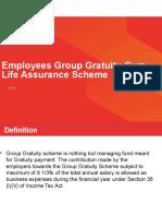 Emp Grp Gratuity Cum Life Assurance Scheme