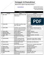 PT. Tritunggal Arthamakmur Surabaya Product List