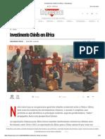 Investimento Chinês Em África