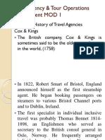 Travel Agencies Intro
