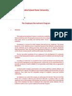 The Employee Recruitment Program
