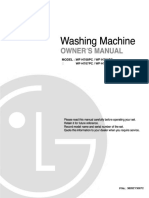 LG Washing machine manual