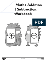 MATHS ADDITION AND SUBTRACTION WORKBOOK