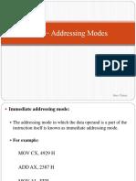 2.1 2.2 8086 − Addressing Modes and instruction set