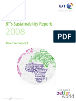 BTs 2008 Sustainability Report