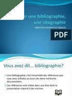 Realiser Une Bibliographie