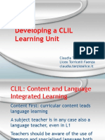 developing a clil learning unit