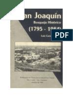 San Joaquín Bosquejo Histórico