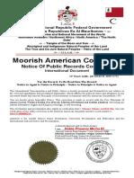 Monera Mouna Aarifah Bey Notice of Public Records Correction