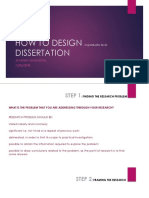 How to Design a Dissertation