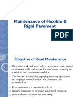 Maintenance of Flexible & Rigid Pavement