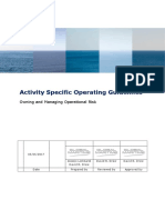 Activity specific operating guidelines