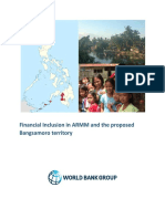 A. Financial Inclusion in ARMM and Proposed Bangsamoro