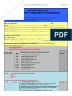 3rd Party Outsourcing Information Security Assessment Questionnaire V1.4