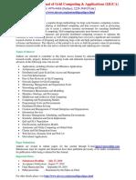 International Journal of Grid Computing & Applications (IJGCA)