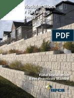 Precast Modular Block for Retaining wall Systems