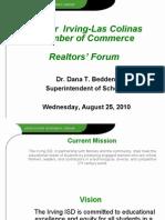 Irving ISD presentation to realtors