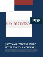 Effective Music Notes for Your Concert