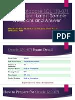 [PDF] Oracle Database SQL 1Z0-071 Certification