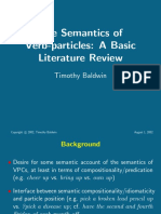 Semantics of Verb Particles