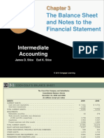 The Balance Sheet and Notes to the Financial Statement