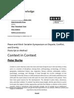 Burke (2002) Context in Context