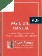 Dr Atkins Basic Diet Manual