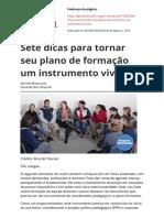 Sete Dicas Para Tornar Seu Plano de Formacao Um Instrumento Vivopdf
