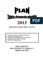 Plan Tutoria 2013