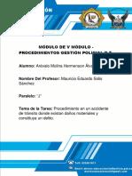 PROCEDIMIENTO DE UN AGENTE DE TRÁNSITO.