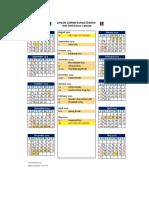 19-20 school calendar 2019 2020