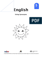 Grade 5 LM English 5 DLP 8 – Using Synonyms