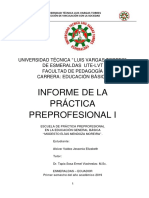 Informe  Prácticas Preprofesionales Primero A