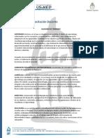 Glosario de Término Módulo n°1 Trayecto de Capacitación Docente