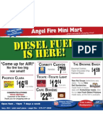 Angel Fire Mini Mart Specials 11/9/2010