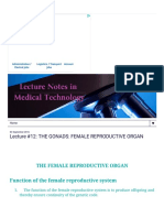 Lecture Notes in Medical Technology_ Lecture #12_ the Gonads_ Female Reproductive Organ