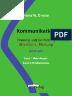 Heinz W. Droste Kommunikation - Planung und Gestaltung öffentlicher Meinung