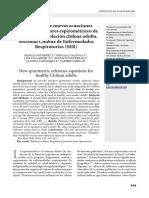 Nuevas Ecuaciones de Referencia Espirometria Chile Gutierrez 2014