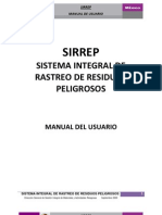 Sirrep - Manual Del Usuario
