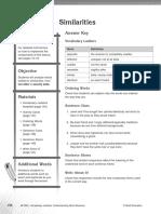 Vocabulary Ladders - Grade 3 - Similarities