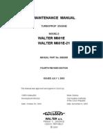 Maintenance Manual Walter m601e, m601e-21